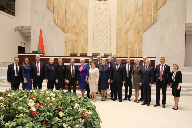 На совместном заседании Палаты представителей и Совета Республики Национального собрания Республики Беларусь.