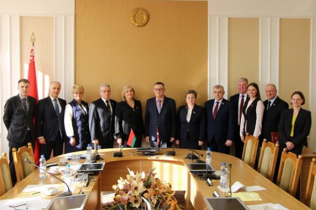 Встреча с Чрезвычайным и Полномочным Послом Латвийской Республики в Республике Беларусь Э.Семанисом.